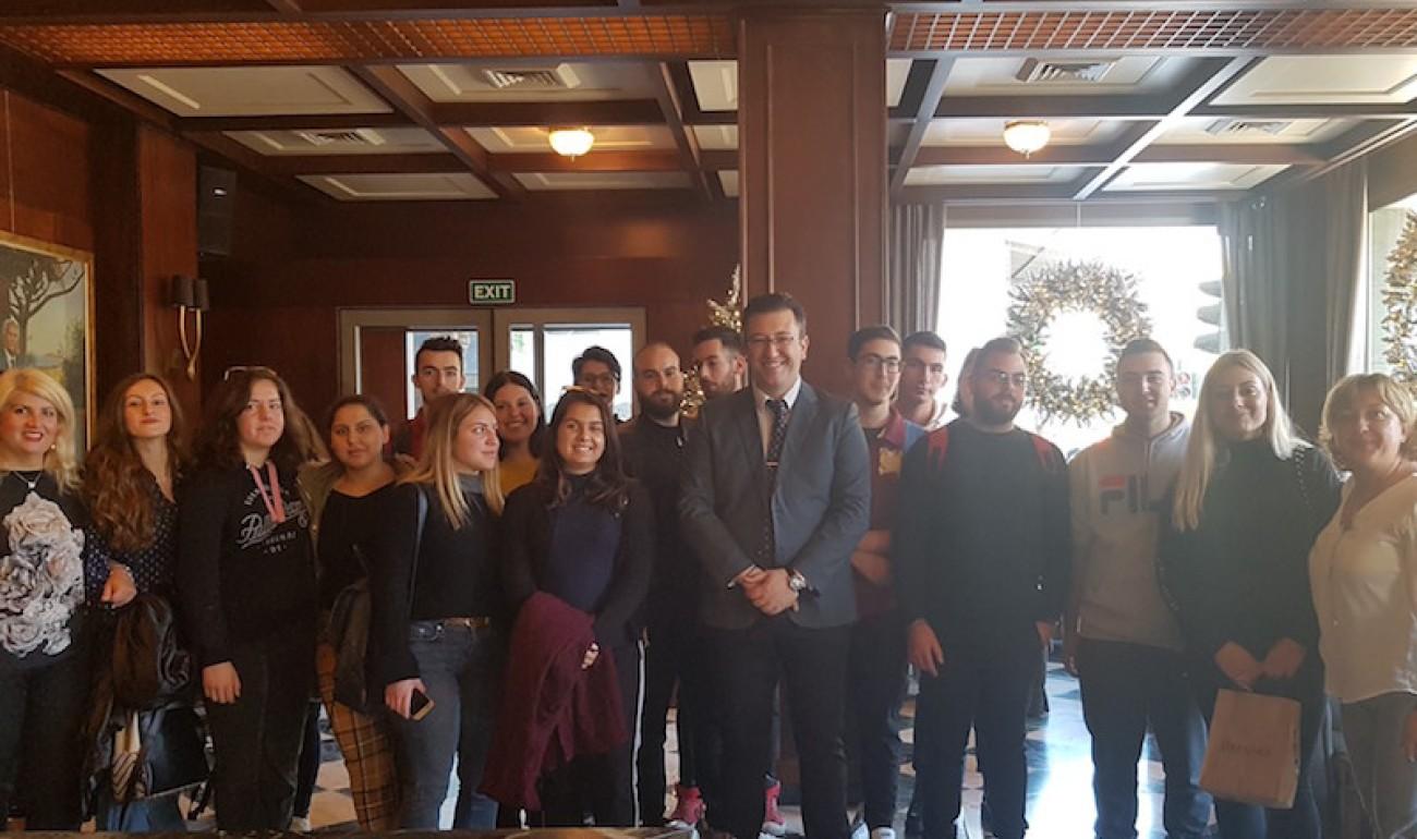 Επίσκεψη στο Cocoon Hostel, Porto Veneziano και Samaria hotel από τη σχολή μας στα Χανιά