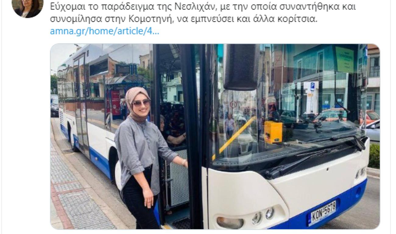 Ιστορίες Επιτυχίας:  Νεσλιχάν Κιοσέ - στα 22 της στο τιμόνι του αστικού ΚΤΕΛ Κομοτηνής!