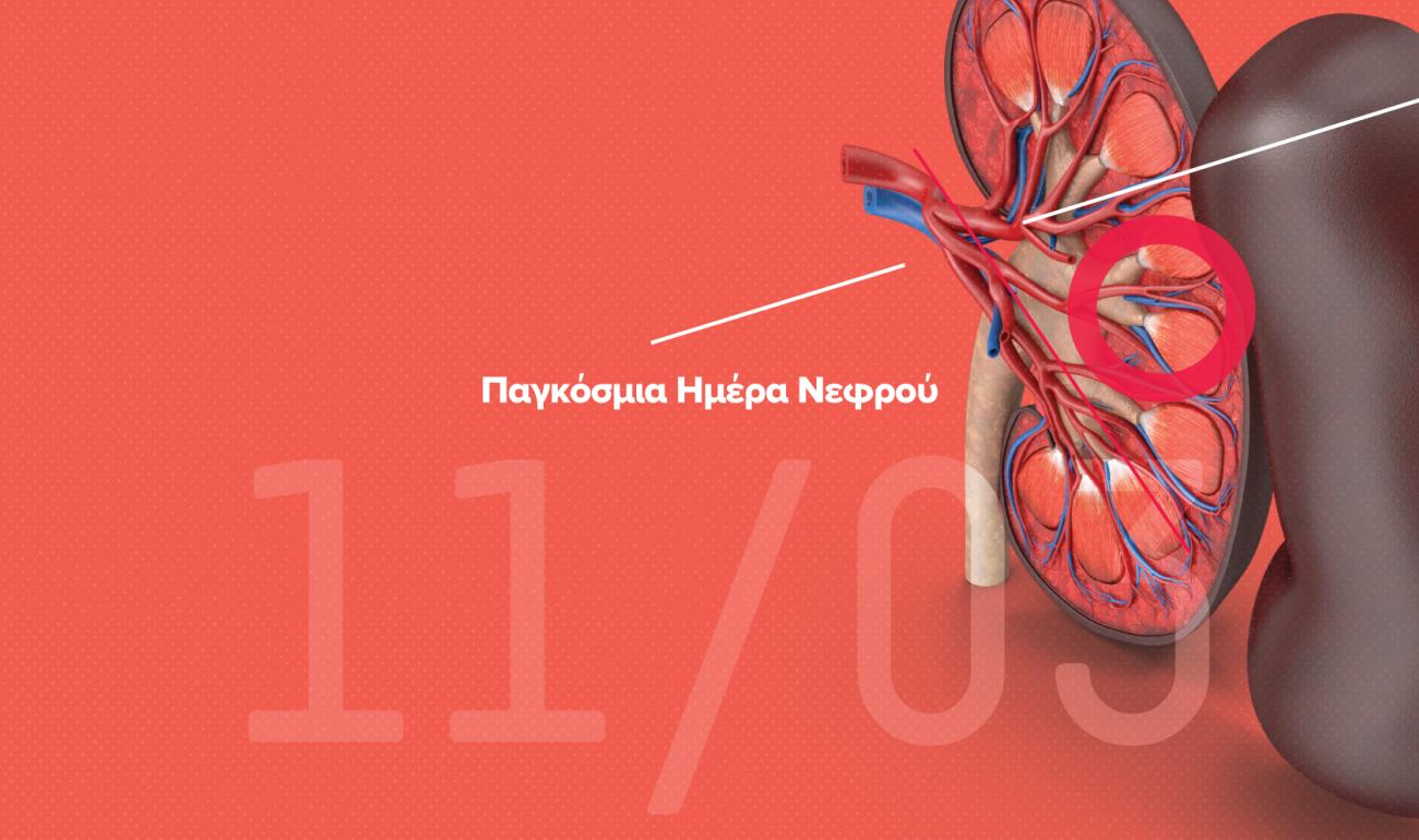 11/3 Παγκόσμια Ημέρα Νεφρού -  Δωρεά Οργάνων: Mια πράξη αγάπης και αλληλεγγύης